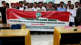 Deklarasi Pilkada damai 2020 di Mataram oleh Kammi Mataram