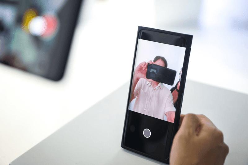 Selfie camera activated