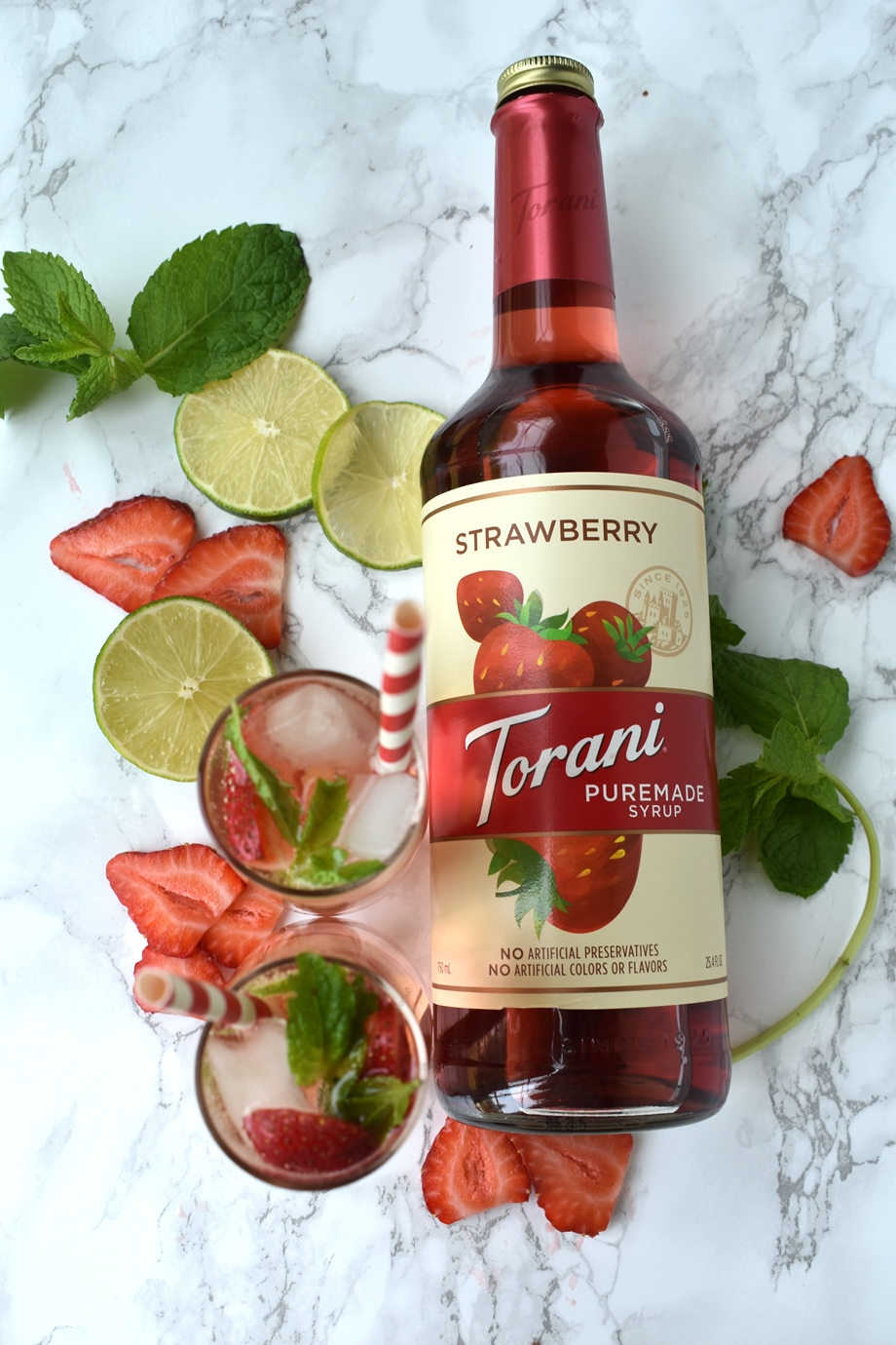 Torani Strawberry Puremade syrup