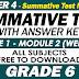 GRADE 6 - 4TH QUARTER SUMMATIVE TEST NO. 1 with Answer Key (Modules 1-2)