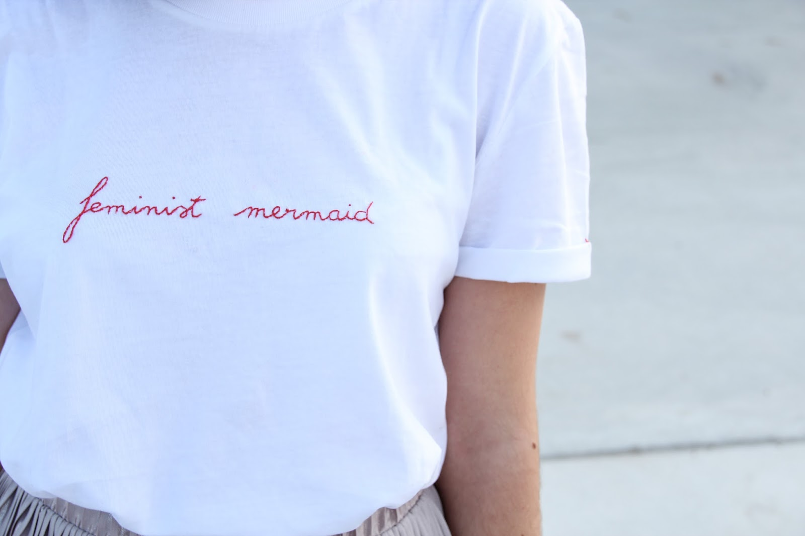Look feminist mermaid Jupe plissée
