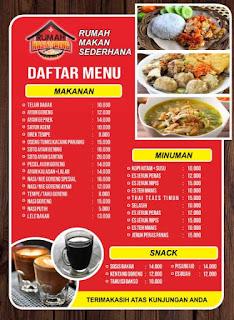 download daftar menu makanan gratis