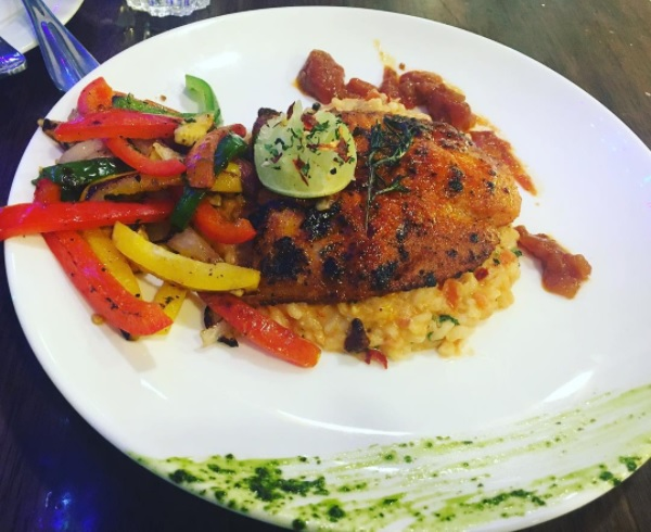 Blackened Fish with Risotto Rice