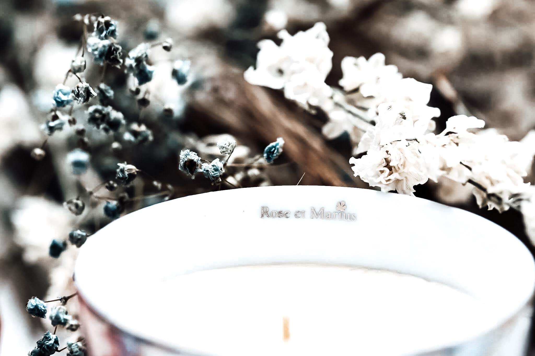 Rose Marius Bougie Parfumée Coffret Porcelaine