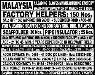 Jobs in Malaysia for Indians