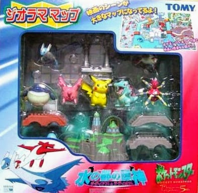 Wailmer figure in Tomy Pokemon Diorama Map AG Latias Latios set