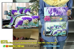 Sprei Fata King 180×200 Wedding Rose Bunga Hijau Mint Ungu Dewasa