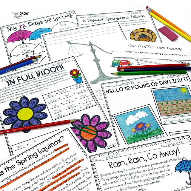 4 Spring Learning Activities for Upper Elementary