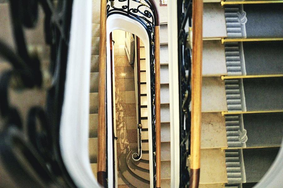 stairs at hilton hotel paris