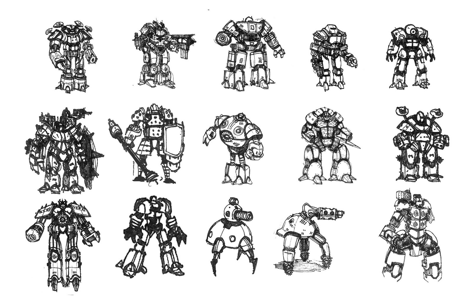 Sketchbook More Robots Mechs