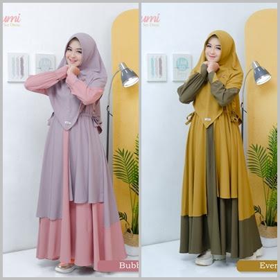 Koleksi Gamis Modern Aden Hijab Terbaru Arumi Dress