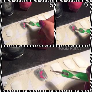 nail art tutorial di come decorare tramite la tecnica strisciato un cuore