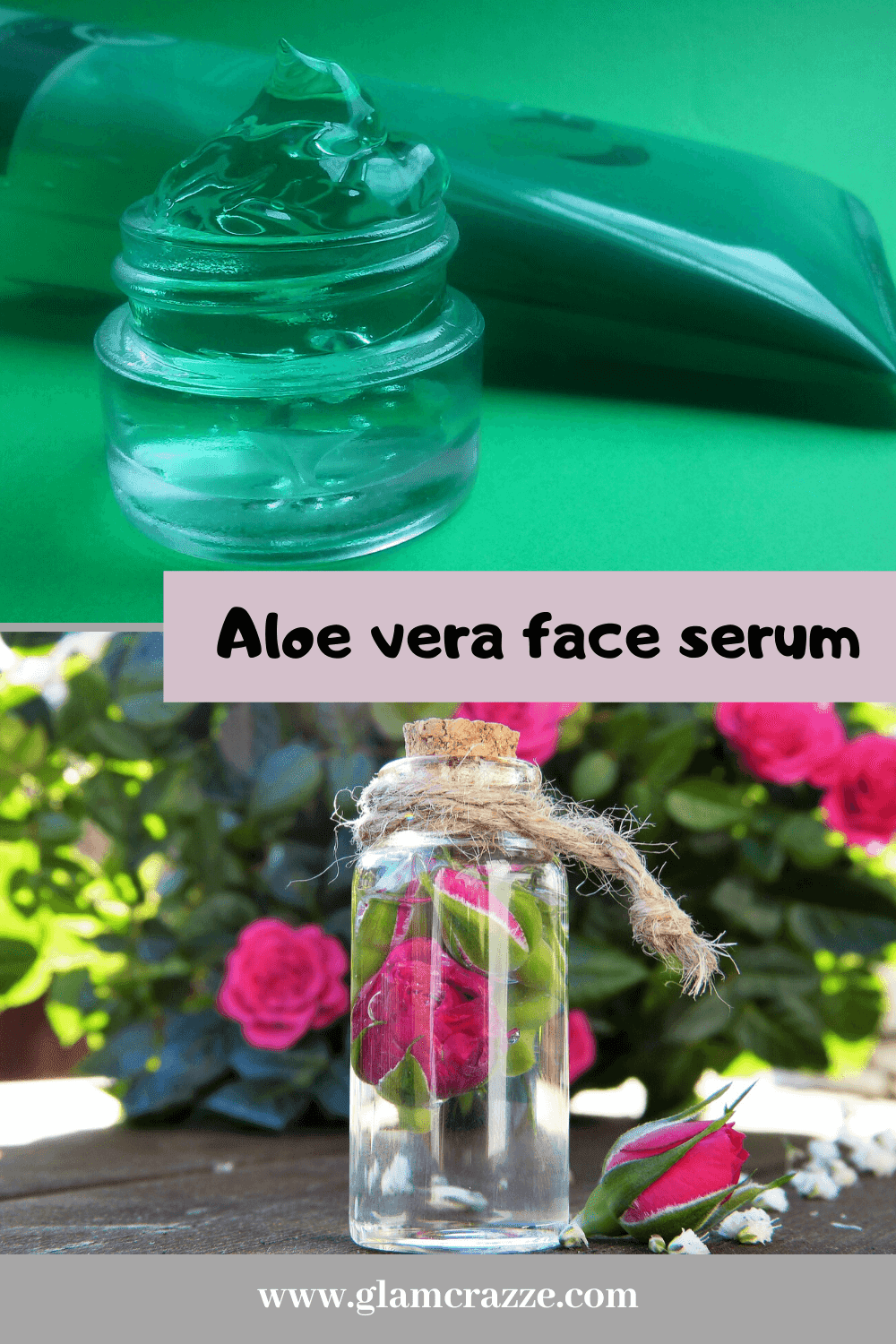 How to use aloe vera and rose water on face