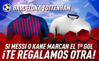 sportium promocion champions Barcelona vs Tottenham 11 diciembre