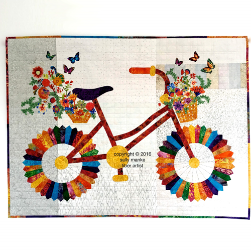 Whimsical Bicycle Art Quilt Pattern