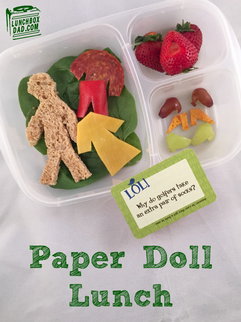 Paper Doll Lunch for School