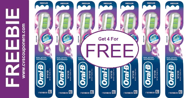FREE Oral-B Vivid Luminous Toothbrushes CVS