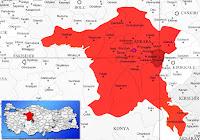 Elmadağ ilçesinin nerede olduğunu gösteren harita