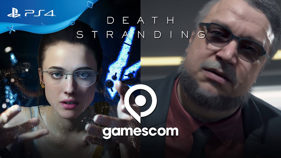 death stranding deadman guillermo del toro mama margaret qualley ps4 gamescom 2019 reveal