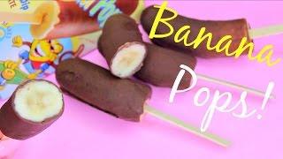 Chocolate Banana Pops