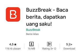 BuzzBreak: Baca Berita, dapatkan uang saku!