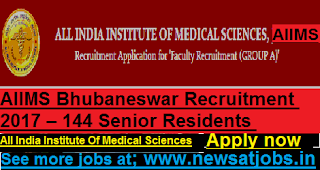 AIIMS-144-Senior-Residents-Vacancies-Recruitment-2017
