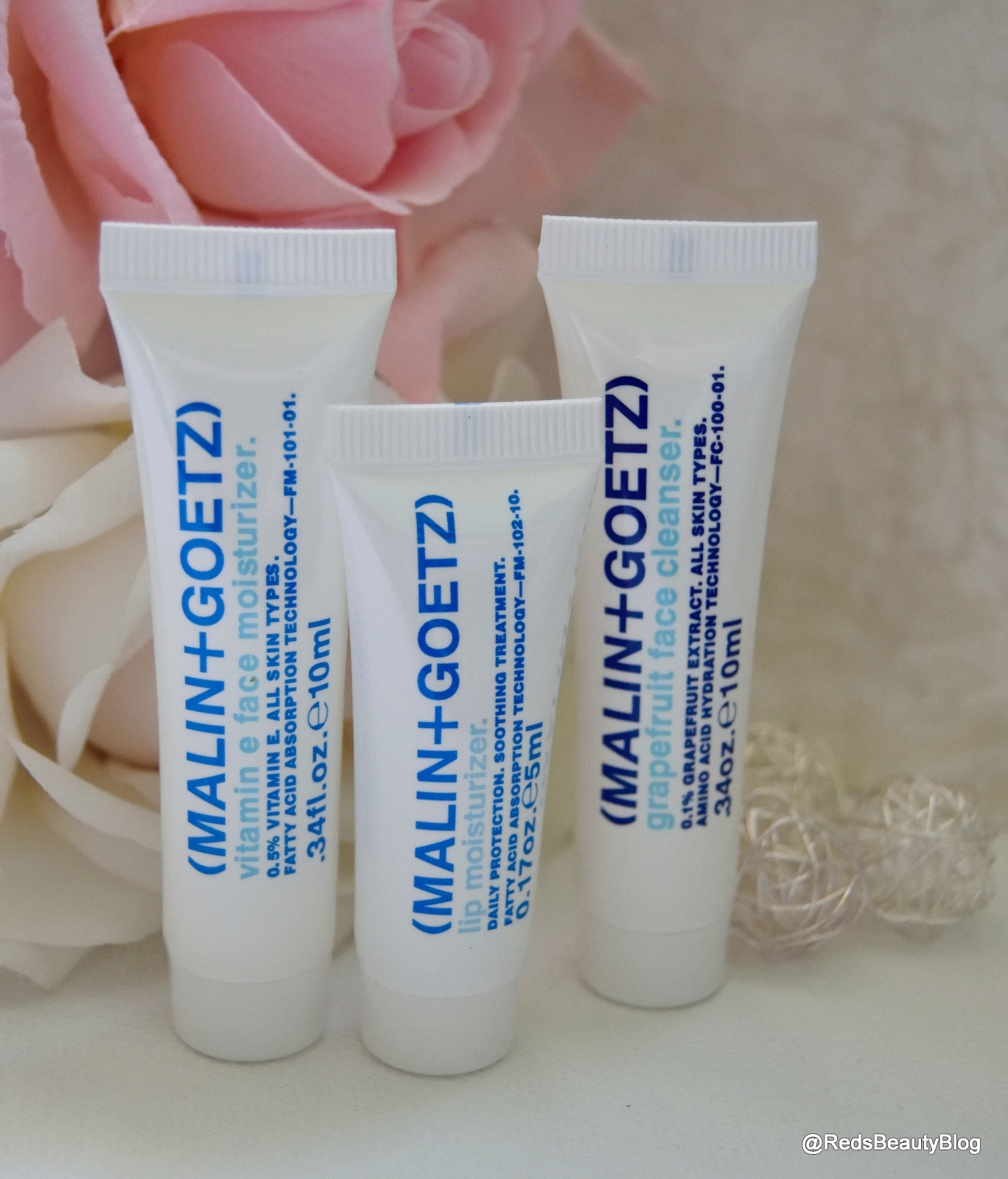 a picture of MALIN+GOETZ Trio (Moisturiser, Lip Balm, Cleanser)