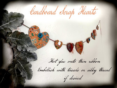 paper cardboard scrap hearts easy wall garland