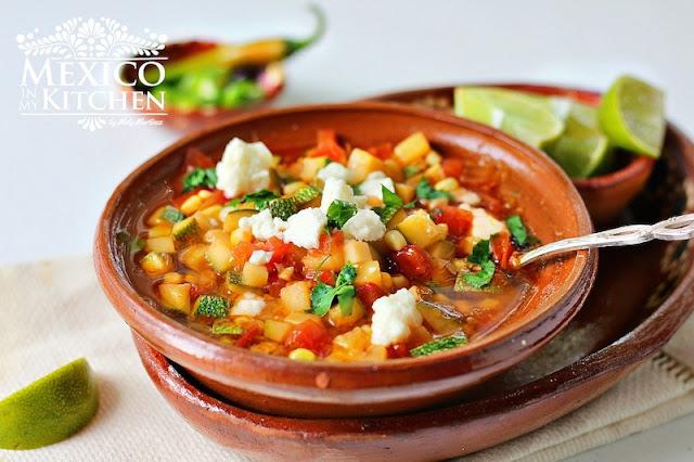 Corn and zucchini soup