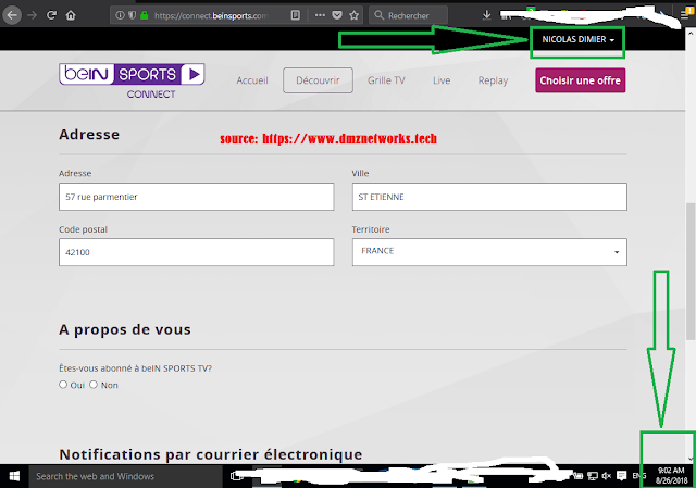 Bein Sport Login and Password