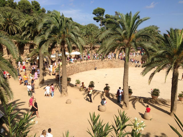 A photo of the main area inside Park Guell in Barcelona