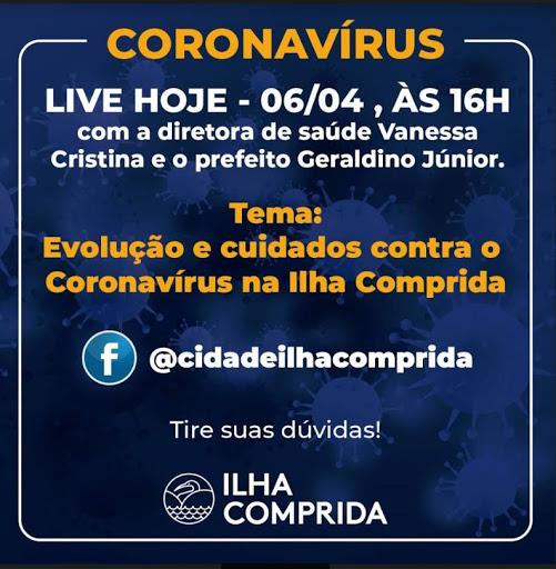 Ilha comprida contabiliza 05 Casos Confirmados Positivos de Coronavírus - Covid-19