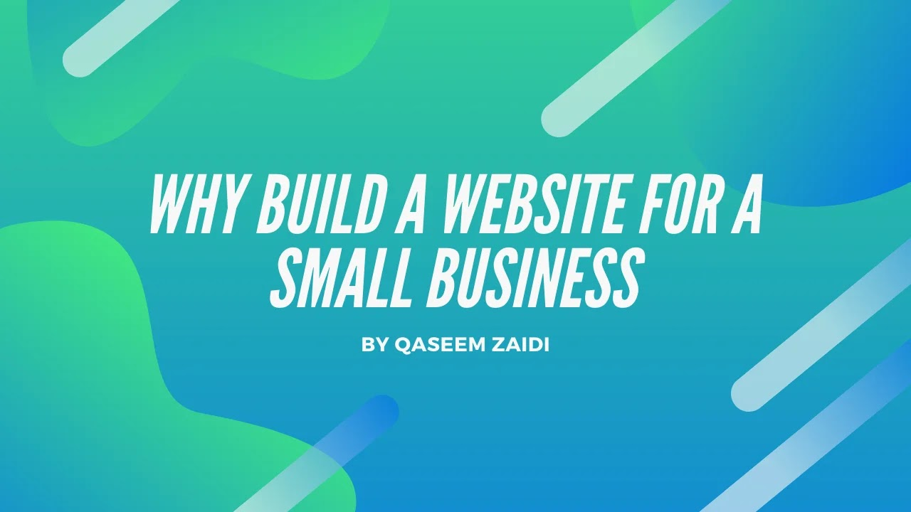 Why Build A Website For A Small Business