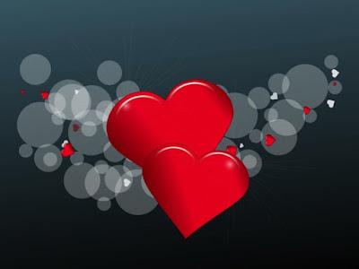 2 Cœurs rouge