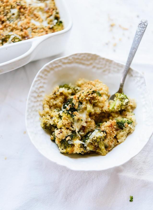 Broccoli Cheddar Quinoa - Make Ahead Meals for Shabbat   Land of Honey