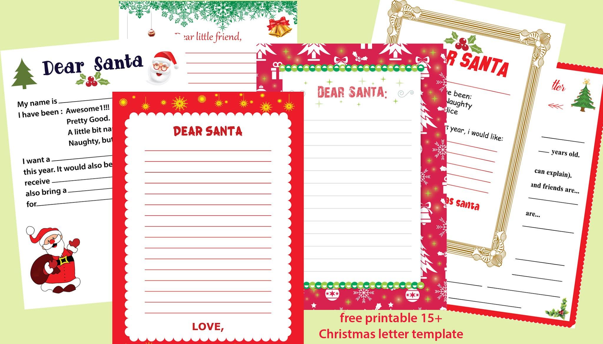 Christmas letter templates / 30+ free printable Christmas wishes ...