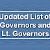 Updated List of Governors and Lieutenant Governors of Indian States and Union Territories