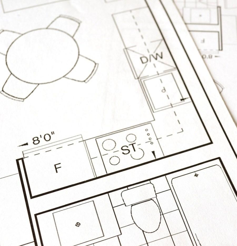 progetto architettonico per ristrutturare la cucina