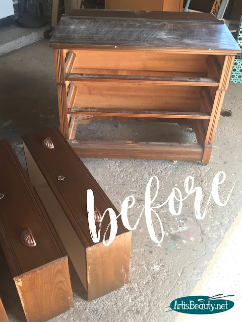 Antique vintage victorian dresser makeover before