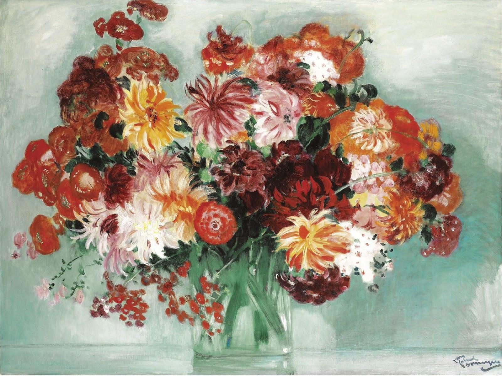Jean Gabriel Domergue  ouquet of flowers