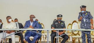 Obaseki boosts Police morale, assures rebuilding of destroyed stations, payment of officers' hospital bills