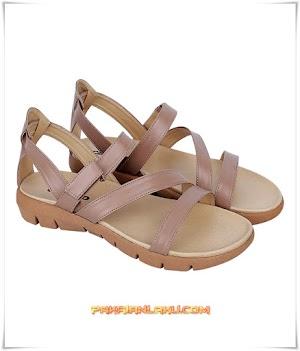 Sandal Casual Wanita Elegan Coklat Muda