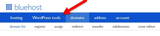 bluehost wordpress tools