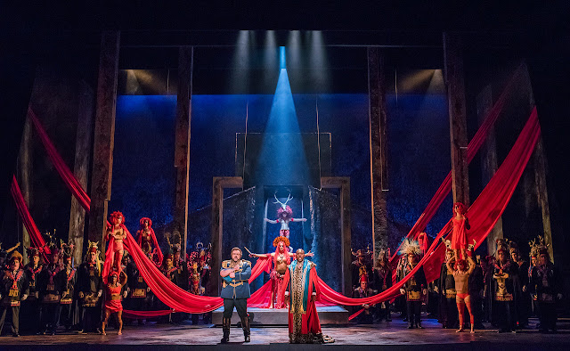 Verdi: Aida - English National Opera - Gwyn Hughes Jones, Robert Winslade Anderson, Eleanor Dennis (photo Tristram Kenton)