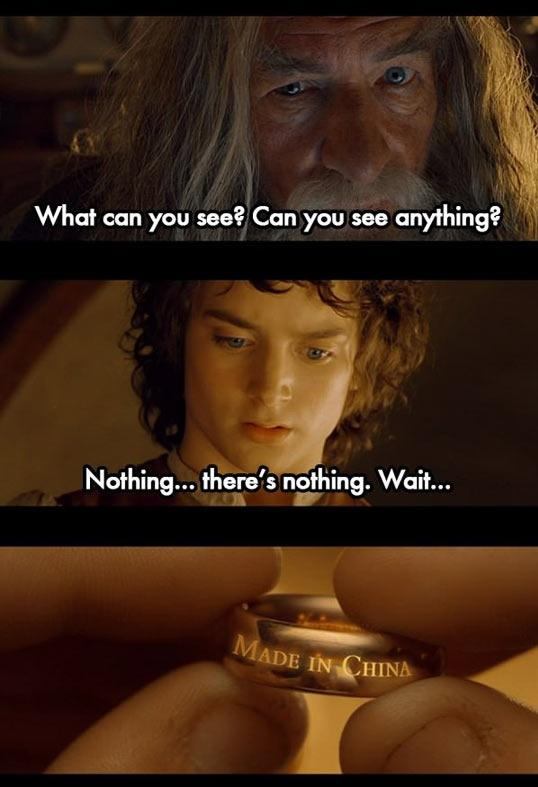 Funny Lord of the Rings Picture Made in China