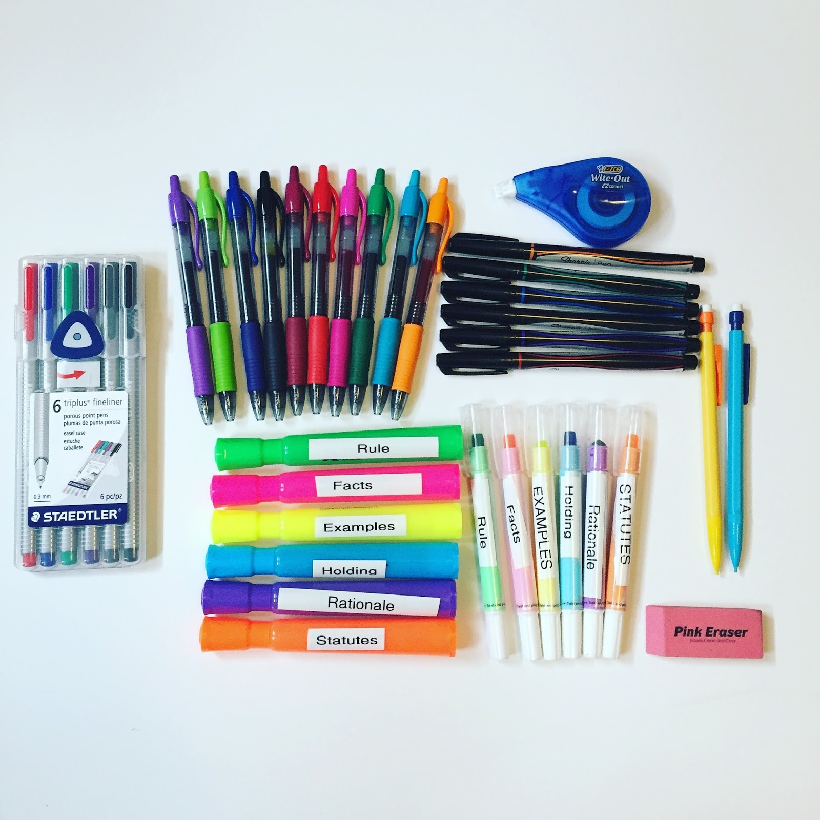 My Must Have School Supplies For Law School
