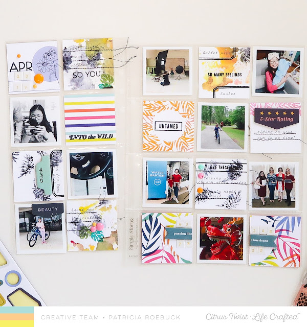 Citrus Twist Kits, Citrus Twist Kits Life Crafted, Pocket Page Challenge, Mixed Media, Patricia Roebuck