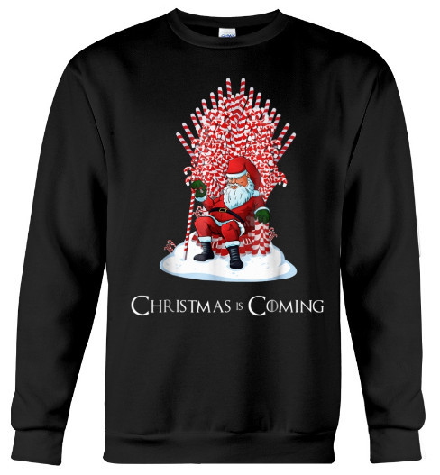 Santa Candy Cane Christmas Is Coming T Shirt, Santa Candy Cane Christmas Is Coming T Shirt Hoodie Sweatshirt,