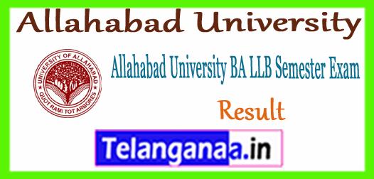 Allahabad University BA LLB 1st 3rd 5th 7th 9th Semester Result 2017