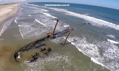 imagens aéreas praia do Cassino
